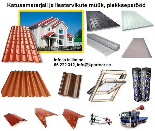 Katusematerjalid-katuseplekk-profiilplekk-seinaplekk